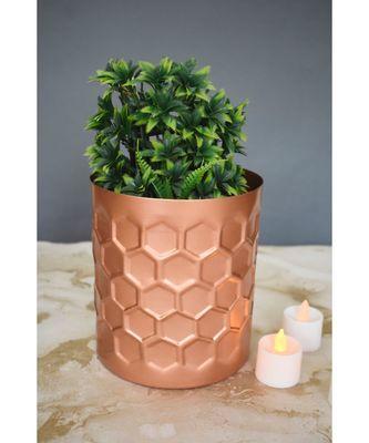 Color Palatte Honeycomb Planter - Copper