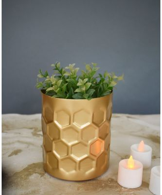 Color Palatte Honeycomb Planter - Gold