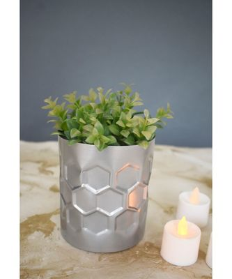Color Palatte Honeycomb Planter -Silver
