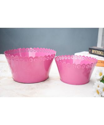 Color Palatte Pink Planter Set