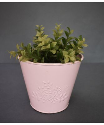 Baby Pink Embossed Planter