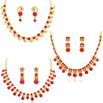 Red diamond necklace-sets