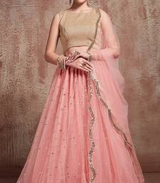 Tempting Baby Pink Party Wear Lehenga Choli With Dupatta