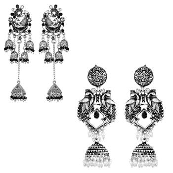 Silver Combo Earrings