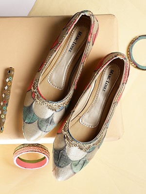 Women's Ethnic Golden Ballerinas