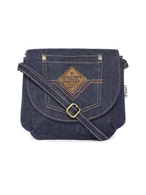 Blue denim Patch Sling bag
