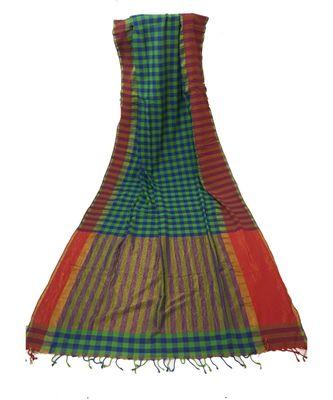 Green Bengal Linen Handloom zari saree with blouse