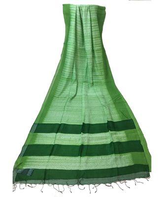 Green Bengal Cot  Silk Handloom Shibori saree with blouse