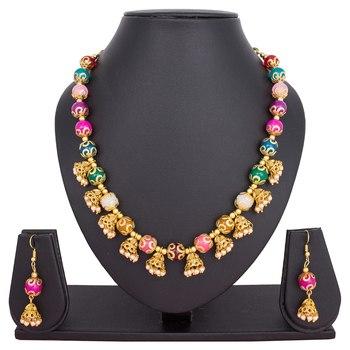 Multicolor emerald necklaces