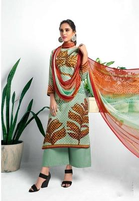 Multicolor printed cotton silk salwar