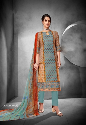 Grey printed cambric salwar