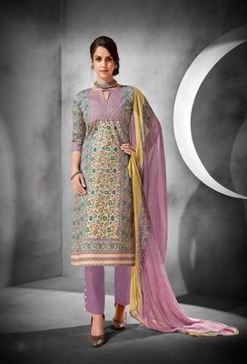 Multicolor printed cambric salwar