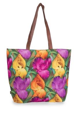 Lilies Polycanvas Light Weight Shopper Hand Shoulder Tote Bag