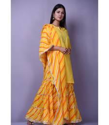 Yellow Leheriya Garara Set