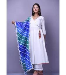 White Angarakha Anarkali