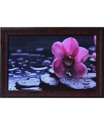 Beautiful Purple Flower Satin Matt Texture UV Art Painting