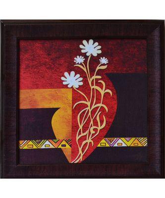 Floral Theme Satin Matt Texture UV Art Painting