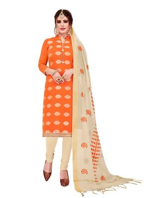 Orange woven banarasi salwar