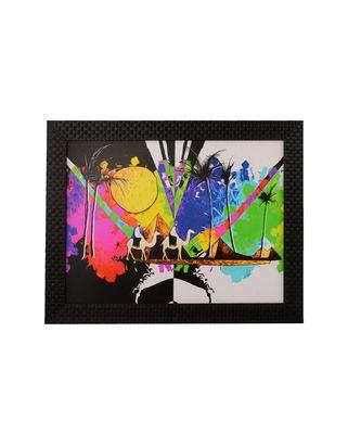 Colorful Deser View Satin Matt Texture UV Art Painting