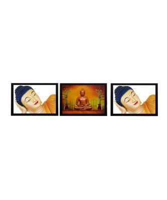 Set Of 3 Holu Lord Buddha Satin Matt Texture UV Art Painting