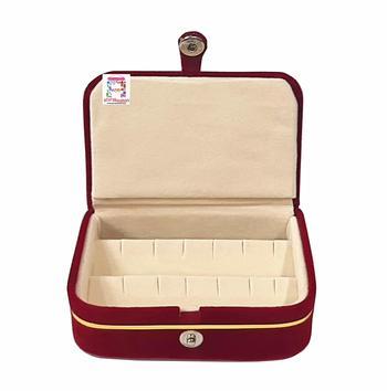 atorakushon® Velvet Combo Jewellery Box Ring Box Earrings Necklace Organiser for Women's Maroon pack of 2