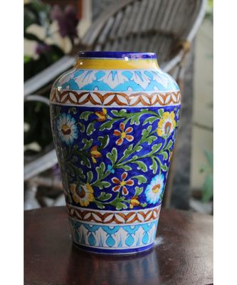 Blue Potter Blue Sun Flower Vase