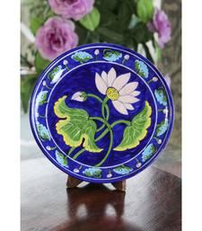 Blue Pottery Blue Lotus Flower Plate