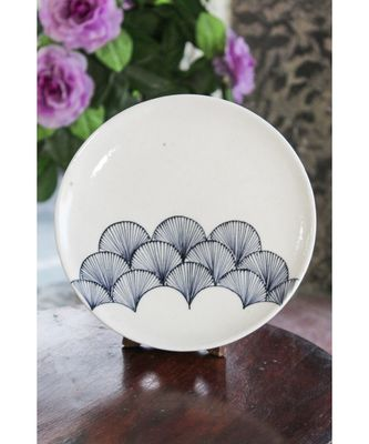 Blue pottery Whilte Wing Plate