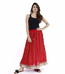 Red Plain cotton skirts