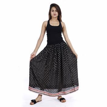 Black Plain cotton skirts