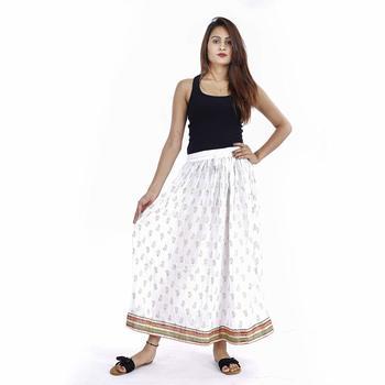 White Plain cotton skirts