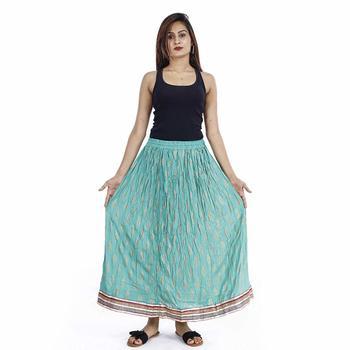 blue Plain cotton skirts