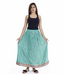 blue Plain cotton skirts