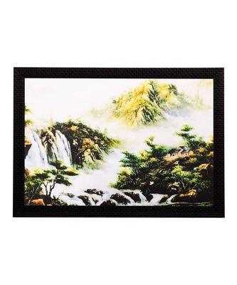 Waterfall View Matt Textured UV Art Painting