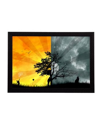 Dual Shades Tree Satin Matt Texture UV Art Painting