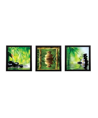 Set Of 3 Stones and Owner Satin Matt Texture UV Art Painting