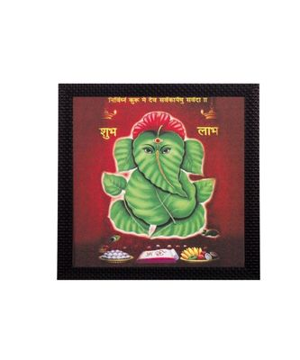 Abstract Lord Ganesha Satin Matt Texture UV Art Painting