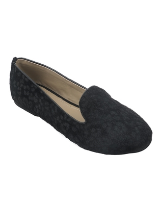 Trends & Trades Women Blue & Black Leopard Print Ballerinas