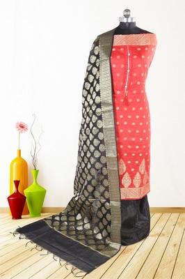 Women's Festive Wear Banarasi Silk Dress Material With Banarasi Dupatta