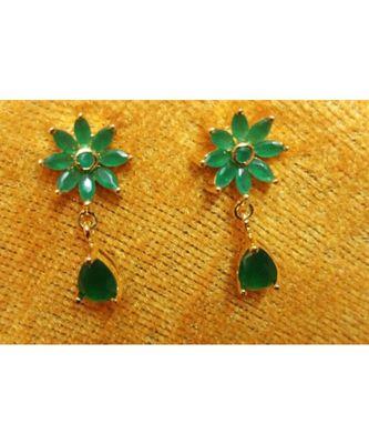 Green colour danglers drops