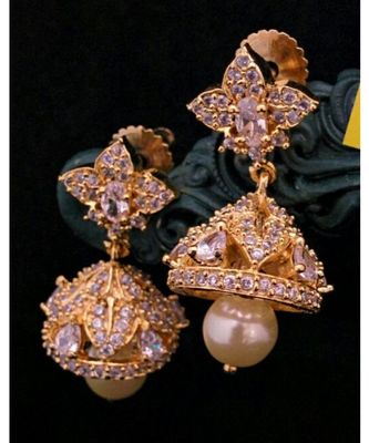 white colour   jhumkas