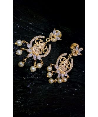 Georgeous gold plated laxmi dangler drops
