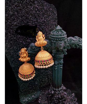 High Gold Plated Laxmi  Jhumkas