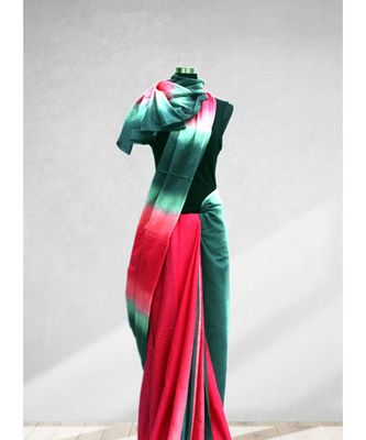 MULTI COLOUR TIE DYE MALMAL COTTON SAREE