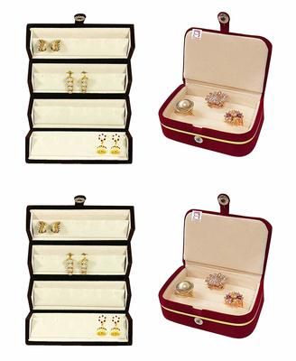 Maroon jewellery-box