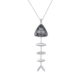 Silver cubic zirconia necklaces