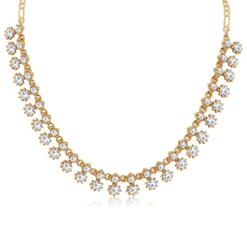 White diamond necklace-sets