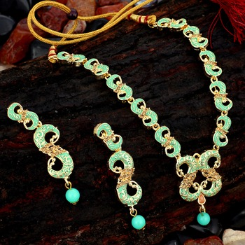 Blue pearl necklace-sets