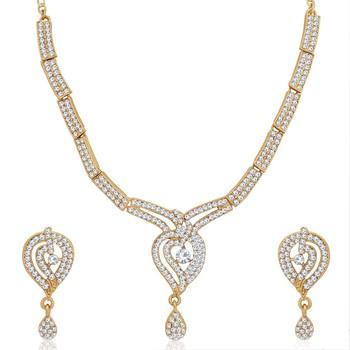White diamond necklace-sets
