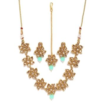Blue diamond necklace-sets